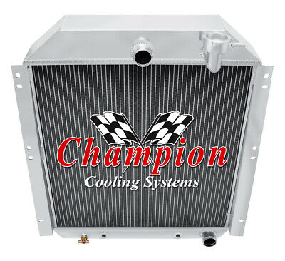 3 Row Aluminum Radiator For Chevy Pickup Truck 1947-1954 48 49 50 51 52 53 AT//MT