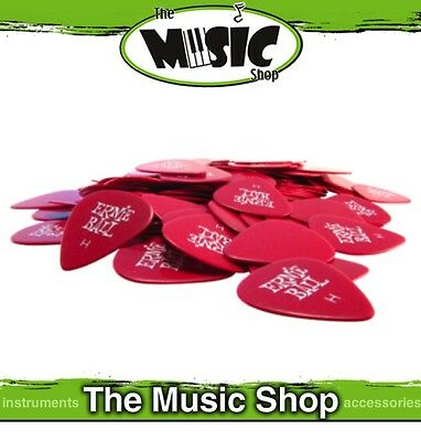 10 x Brand New Ernie Ball Heavy Red Guitar Picks - .94mm Gauge Plectrums - New