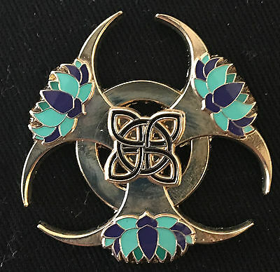 Lotus-Biohazard spinner Pin Black/Teal Variant limited edition Sold out