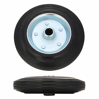 New 200MM Replacement Spare Trailer Jockey Wheel Caravan with Solid Rubber Tyre