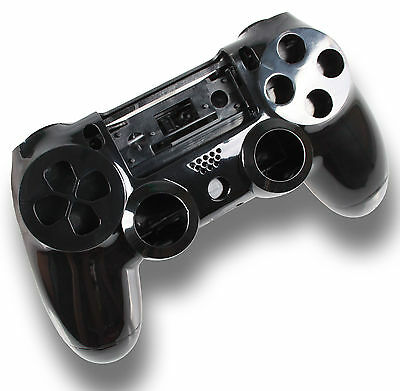 Playstation PS4 Controller Case Hülle Gehäuse Chrome Modding Cover Schwarz