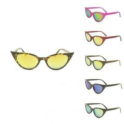 Rockabilly 50's Cat Eye Women's Sunglasses Retro Style Pointy Sharp Revo Lens
