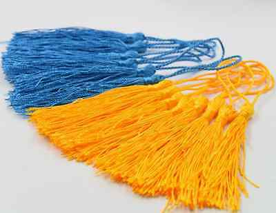 10 PCS Jewelry Making Tassel Pendants  Craft Applique  Polyester Trim Mixed