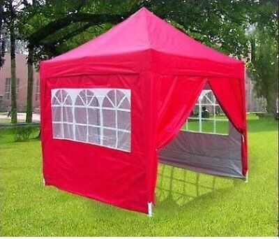 Quictent 8 x 8' Pyramid Easy Pop Up Party Wedding Tent Canopy Gazebo Red