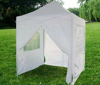 Quictent White Waterproof 8 x 8' EZ Pop Up Party Wedding Canopy Tent Gazebo