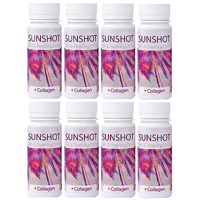 8x SUNSHOT Tan & Beauty Drink - neue Rezeptur - je 60 ml