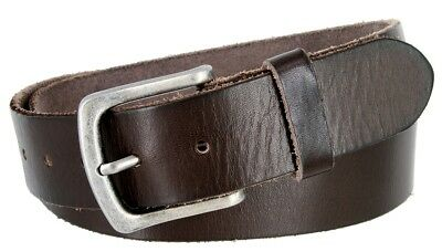 Classic Oil-tanned Genuine Leather Casual Jean Belt for Men, Sizes 32-40!