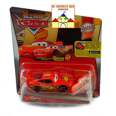 CARS Personaggio SAETTA McQUEEN con Cartello in Metallo sc 1:55 by Mattel Disney