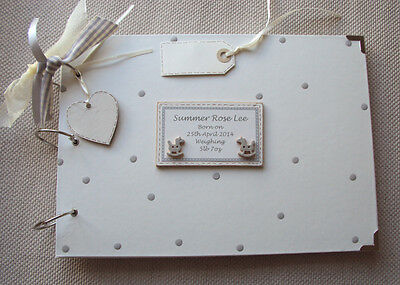 Personalised New Baby/christening...a4 Size. Photo Album/scrapbook/memory Book.