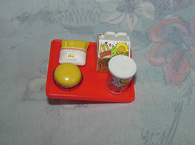 Barbie Kelly Doll McDonalds Tray Accessory - Hamburger, Fries, Happy Meal, Drink