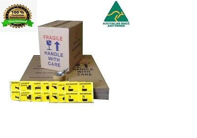 20 X 50L Moving Boxes + Packing Materials Cardboard Removalist Package Deal!!