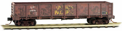Micro-Trains MTL N-Scale 40ft. Drop Bottom Gondola Union Pacific/UP Weathered