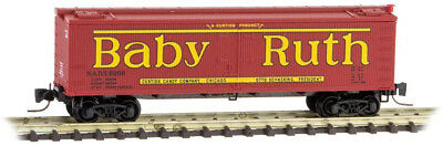 Micro-Trains MTL Z-Scale 40ft. Wood Reefer Car Nestle Baby Ruth Candy Series #8