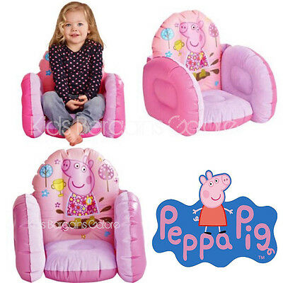 GENUINE Peppa Pig Kids Inflatable Armchair Sofa Chair-Indoor/Outdoor