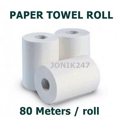 PERFORATED HAND PAPER TOWEL ROLL, 16 ROLLS, 80M x 18 cm/roll CHEAP
