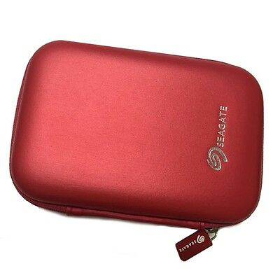 POUCH for Seagate Wireless Plus [HDD Carrying Bag Hard disk Case Pouch] Red