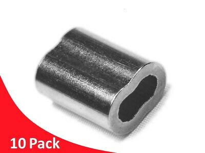 Stainless Steel balustrade *10 pack* 1.2 mm ferrules for DIY Traces