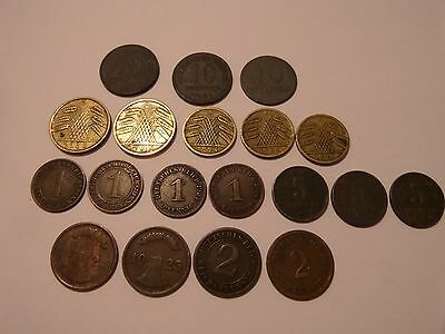 19 Old German Coin Lot