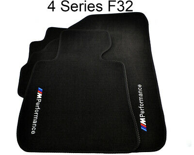 BMW 4 Series F32 Winter Floor Mats With Rubber Background ///M Performance LHD