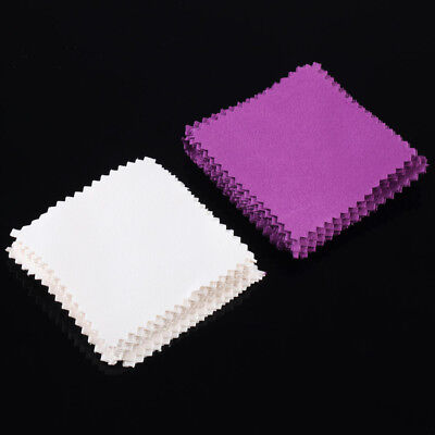 100 x Jewelry Platinum Gold Sterling Silver Polishing Cleaner Cleaning Rub Cloth