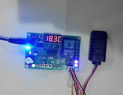 Digital led Intelligent Temperature Humidity Controller Relay Thermostat 12v/24v