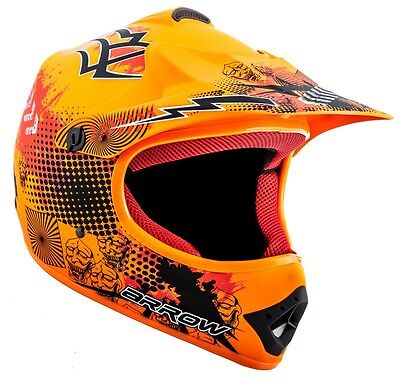 ARROW AKC-49 NEON orange Cross Motorradhelm Kinderhelm Crosshelm XS S M L XL