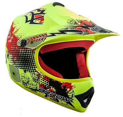 ARROW AKC-49 LIMITED Cross Motorradhelm Kinderhelm Crosshelm gelb - XS S M L XL