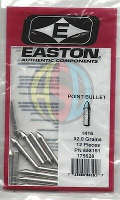 Easton Archery One-Piece Point Bullet Arrow Tip Choose your size- Packs of 12