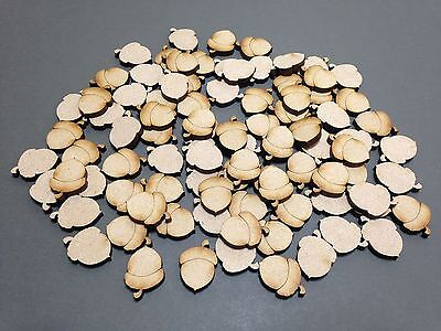 A16 MDF Scrapbook 20mm Acorns Laser Cut Embellishments Wooden Craft Shape Gift