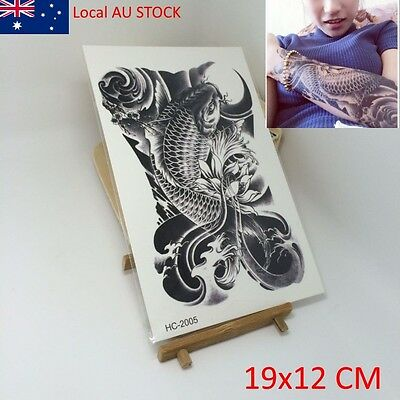 Fish Carp Beauty Makeup Body Art 3D Waterproof Temporary Exotic Tattoo Stickers