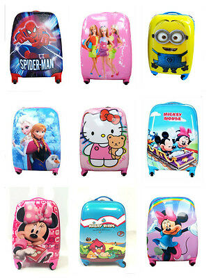 Disney Boys Girls Children Kids Holiday Travel Hard Shell Suitcase Luggage Bags