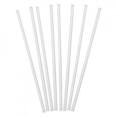 "1000 Straight Sip Slim Straws Clear Cocktail 4"" Straw Drinking Bar Pub Party"