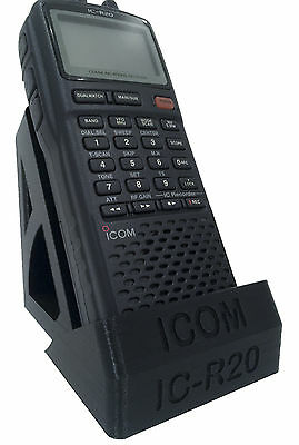 Desktop Stand ICOM IC-R20 Hand Held Scanner/Receiver, BLACK/ SLIVER GREY