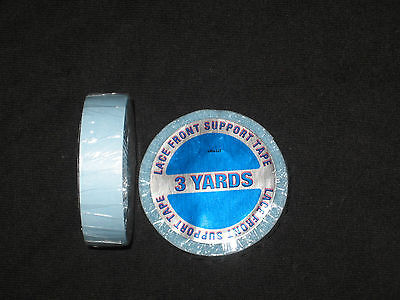 """Walker 1/2""""x 3 YDS Tape Roll (Blue Liner)Lace Front Support  ~Lace Wigs &Toupee"""
