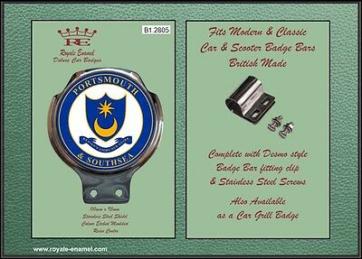 Royale Car Scooter Bar Badge + Fittings - PORTSMOUTH & SOUTHSEA - B1.2805