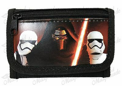 Star Wars Kylo Ren & Stormtrooper Kids Boys Black Tri-Fold Wallet