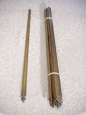 "11 Antique Solid Brass Architectural Staircase Carpet Holder 27"" with Final Ends"