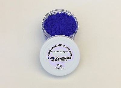 Thermo Thermochromic Color Changing Pigment BLUE to COLORLESS change at 122F/50C
