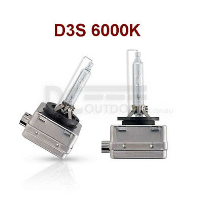 A PAIR 35W D3S Xenon HID Bulbs Globe Replacement Pure White 6000K - METAL FRAME