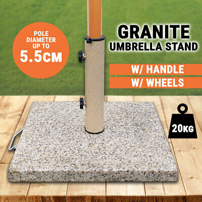 Granite Umbrella Stand Heavy Duty Powder-Coated Steel Post Outdoor Holder