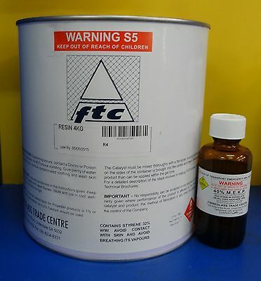Fibreglass(Polyester) Resin and Hardener - 4Ltr