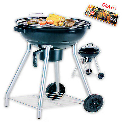 Grill Charcoal Barbecue Standing Garden Kettle BBQ XL Matches