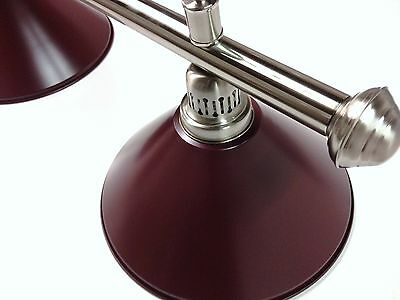 Large QUALITY Pool Snooker Billiard Table Light Brushed with 4 x Burgundy Shades