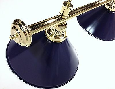 Large QUALITY Pool Snooker Billiard Table Light Brass with 4 x Blue Shades