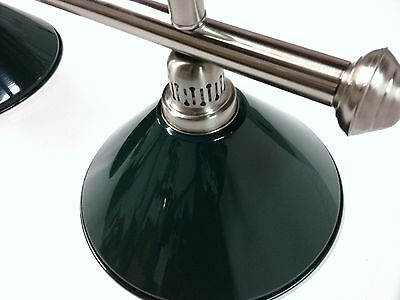 Large QUALITY Pool Snooker Billiard Table Light Brushed with 4 x Green Shades
