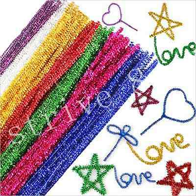 18/100pcs Chenille Craft Stems Pipe Cleaners Kids Educational Toys Twist Rods