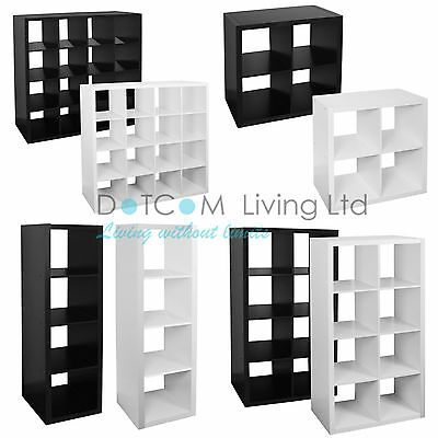 White/Black Bookcase Shelf 4/8/16 Tier Storage Display Unit Office Living Room