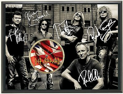 "Def Leppard Ltd Edition Signature Series Art Face Clock Display ""j0"""