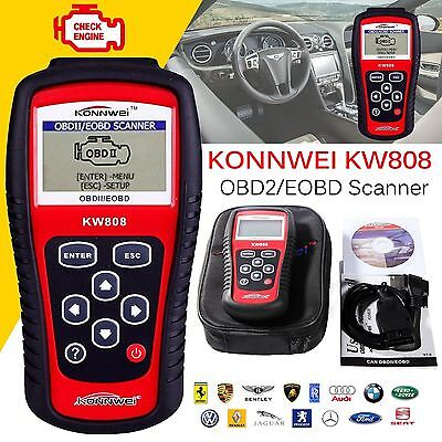 KW808 Scanner Car OBD2 Diagnostic Code Reader KONNWEI CAN Engine Reset Tool UK