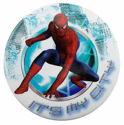 38mm Spider-Man It's My City Badge New Official Marvel Merchandise